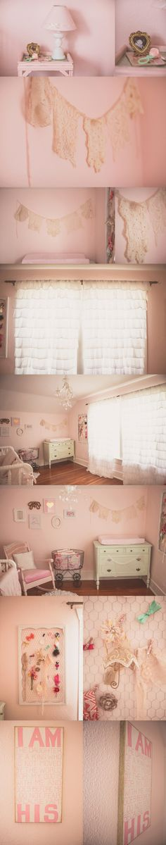 like the lace....pink, mint and gold baby girl nursery \\ kristal joy photography