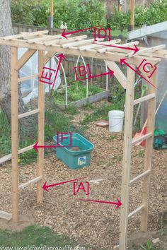 How to Build a Garden Arbor - YTC Spring 2018 - Simple Family ~ Crazy Life - Modern Design Arbors Trellis, Garden Trellis, Trellis Ideas, Fence Garden, Easy Garden, Wooden Arbor, Wooden Garden, Garden Projects, Outdoor Projects