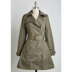 b367ceeeb4d Military Long Long Sleeve Throw a Trench ( 100) ❤ liked on Polyvore  featuring outerwear