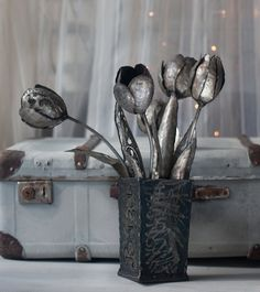 Hey, I found this really awesome Etsy listing at https://www.etsy.com/listing/248919482/bouquet-metal-flowers-metal-tulips