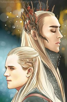 I SWEAR I never liked elves. Well, I do, but not from Tolkien's side. But I gotta admit that the way they portrayed Thranduil conquered my heart. The Hobbit - Thranduil WIP Hobbit Art, O Hobbit, Cs Lewis, Disney Marvel, Narnia, Legolas Et Thranduil, Tauriel, Jrr Tolkien, Orlando Bloom