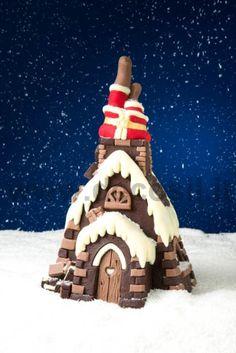 Santa Claus in chimney Pine Shell mold  #Chocolate #Cristmas #SantaClaus
