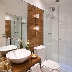 One of the Most Overlooked Options for Contemporary Bathroom Leafy Wallpaper - walmartbytes Bathroom Design Small, Bathroom Layout, Bathroom Interior Design, Home Interior, Wc Decoration, Toilet Design, Bathroom Trends, Beautiful Bathrooms, Modern Bathrooms