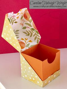 CraftyCarolineCreates: Diagonal Opening Gift Box - Video Tutorial with Stampin' Up Products.