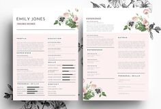 modern resume psd word file by emily s art boutique on creative