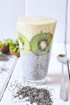 nads healthy kitchen | cashew-coconut nanaicecream with chia pudding and blueberries
