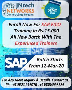 Enroll Now for the SAP FICO training with highly experienced trainers at the JNtech Networks offer in Only Rs. 15,000/-.  The Contact details are provided below: Ph. No. +919354976076, +919354998586 www.jntechnetworks.com Email: info@jntechnetworks.com Address: A33, Sector 2, Noida