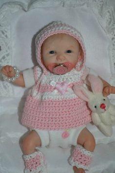 "Original Art OOAK Polymer Clay baby doll girl 5.25"" Alexa by Yulia Shaver"