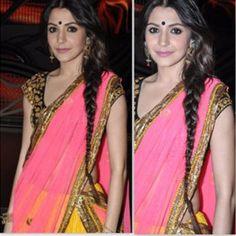 Anushka Sharma in Masaba Lehenga on Nach Baliye Bollywood Fashion, Bollywood Style, Anushka Sharma, Health And Beauty Tips, Celebs, Celebrities, Indian Outfits, Lehenga, Style Icons