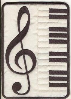 5x7 Musical Mug Rugs - Elsas Designs | OregonPatchWorks