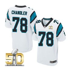 Men's NFL Carolina Panthers #78 Nate Chandler White 2016 Super Bowl 50 Elite Jersey