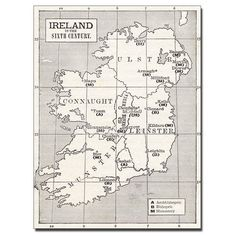 Trademark Fine Art Map of Ireland in the Sixth Century (1.325 ARS) ❤ liked on Polyvore featuring home, home decor, trademark fine art, canvas home decor, map home decor and colorful home decor