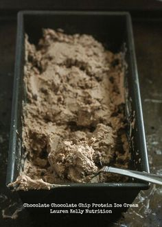 Chocolate Chocolate Chip Protein Ice Cream from Lauren Kelly Nutrition #vegan #dairyfree #glutenfree
