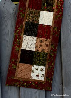 Winter Quilted Table Runner Winter Song by PatsPassionQuilteds