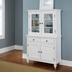 Home Styles Bermuda Buffet and Hutch, White