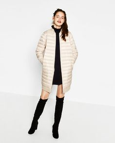 Image 1 of LIGHT QUILTED COAT from Zara