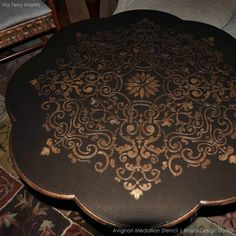 12 DIY Ideas to Paint a Decorative Focal Point with Medallion Stencils on Walls, Ceilings, & Furniture