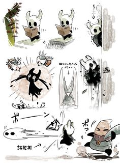 Team Cherry, Hollow Night, Hollow Art, Knight Art, Owl House, Kawaii Drawings, Video Game Art, Funny Comics, Cute Art