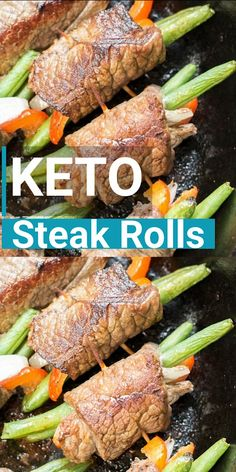 flank steak tacos These easy Keto Steak Rolls are loaded with flavor. Flank steak is wrapped around green beans, peppers and onion, just 4 net carbs per serving! Ketogenic Recipes, Low Carb Recipes, Diet Recipes, Healthy Recipes, Keto Meal Plan, Diet Meal Plans, Meal Prep, Keto Steak Recipe, Comida Keto