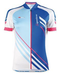 SIGNATURE ladies cycling jersey in blue