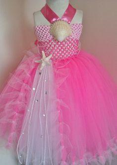 Elegant Pink Little Mermaid Ariel Inspired Tutu Dress on Etsy, $55.00