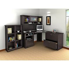 Have to have it. Bush Cabot Corner Computer Desk with Optional Hutch and Accessories - $215.99 @hayneedle