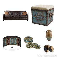 Design Articles Including Portfolio Sofa Wooden Ottoman Stacy Garcia Ceiling Light And Handmade Coaster From October 2016 #home #decor