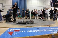 St. George's Robotics Club hosts the annual Sumo Robotics Challenge.