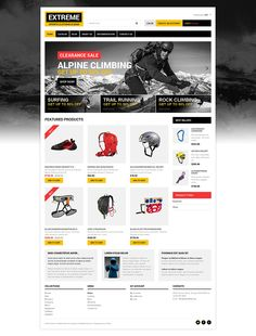 Extreme Sports Responsive Shopify Theme New Screenshots BIG