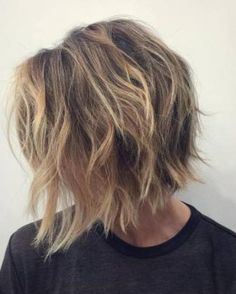 Shag with Highlighted Layers- Bob hairstyles