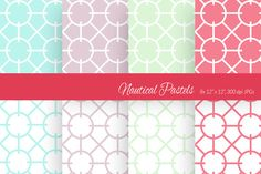 Nautical Pastels Digital Paper by More Than Cake on Creative Market