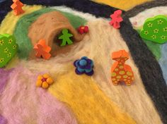 Another view, felted play mat