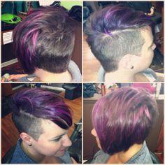 funky hair cut & color #salonesperanza