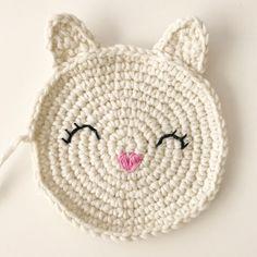 A crochet pattern for a sugar-sweet cat bag - knitting and crocheting . - A crochet pattern for a sweet cat bag – knitting and crocheting – # Crochet pattern - Knitted Washcloth Patterns, Knitted Washcloths, Knit Dishcloth, Knitting Patterns, Crochet Patterns, Crochet Toys, Crochet Baby, Knit Crochet, Crochet Animals