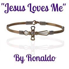 "Pink Bombshell ""Jesus Loves Me"" Bracelet by Ronaldo is HERE! Ronaldo Bracelet, Jewlery, Jewelry Box, Diamonds And Gold, Jesus Loves Me, California Style, Bombshells, Renaissance, Gift Ideas"