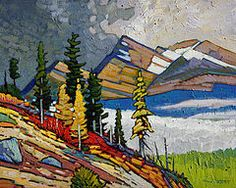 A collection of Paintings by Canadian Painter Nicholas Bott. Canadian Painters, Canadian Artists, Mountain Pictures, Mountain Art, Landscape Pictures, Felt Art, Tree Art, Abstract Paintings, Oil Paintings