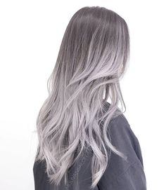 Ombre in Ash. Toned with fanola ORO ash series. Check previous product shots to enter to win some goodies. White Ombre Hair, Reverse Ombre Hair, Silver Grey Hair, Ombre Hair Color, Blonde Grise, Nails Yellow, Pinterest Hair, Hair Dye Colors, Aesthetic Hair