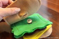 Practice Buttoning with Felt Sandwich | Therapy Fun Zone