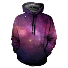 Purple Galaxy Hoodie - This item is made with an extremely soft garment using HD Photographic Printing Technology. The fine mixture of polyester and cotton allow us to print high definition images and create unique, fresh and innovative products. http://www.yovogueclothing.com/collections/hoodies/products/purple-galaxy-hoodie
