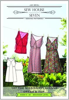 The Mississippi Avenue Dress & Top Sewing Pattern