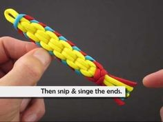 How to Make a Spectrally Clustered Crown Sinnet (Key Fob) by TIAT - YouTube
