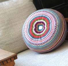 upcycled sweater pouf