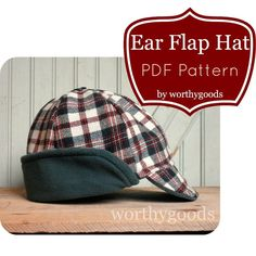 Ear Flap Hat PDF Sewing Pattern Warm Winter Style by worthygoods