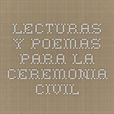 Lecturas y poemas para la ceremonia civil