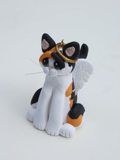 i WANT THIS! Polymer Clay Calico Cat Christmas Ornament by HeartOfClayGirl, $17.50