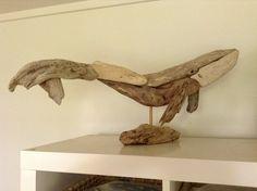 Driftwood humpback whale