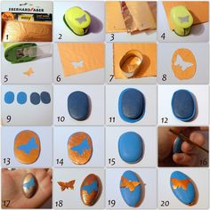 Leaf Metal shapes using a paper punch, polymer clay bead tutorial