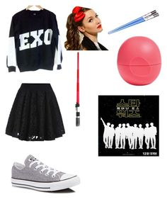 """Exo Lightsaber"" by maknemaddie on Polyvore featuring KRISVANASSCHE, Converse and Eos"