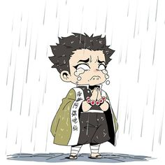 Demon Slayer( Kimetsu No Yaiba) Photo+memes - Hashira in rain - Wattpad Anime Manga One Piece, Manga Anime, Chibi Anime, Kawaii Chibi, All Anime, Anime Art, Demon Slayer, Slayer Anime, Anime Angel