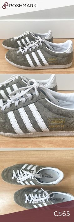 Adidas Dark Gray Suede Gazelle Sneakers Regular fit Suede uppers Soft feel Rubber outsole Excellent, like new condition adidas Shoes Sneakers Adidas Running Shoes, Black Running Shoes, Adidas Busenitz, Adidas Runners, Adidas Tubular Shadow, Purple Sneakers, Adidas Pure Boost, Training Shoes, Black Adidas